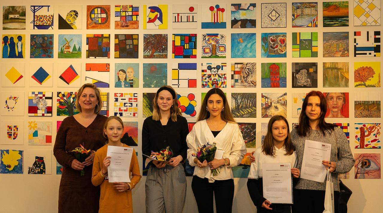 Prijswinnaars schilderwedstrijd Mondriaanhuis