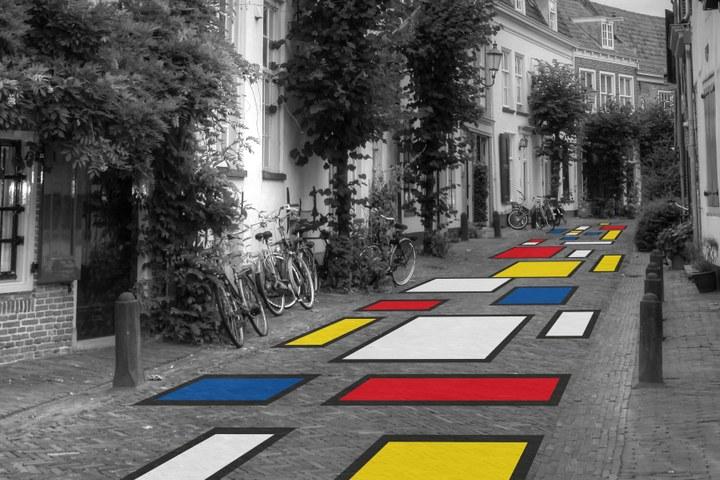 Mirakels Amersfoort in de Stijl van Piet Mondriaan