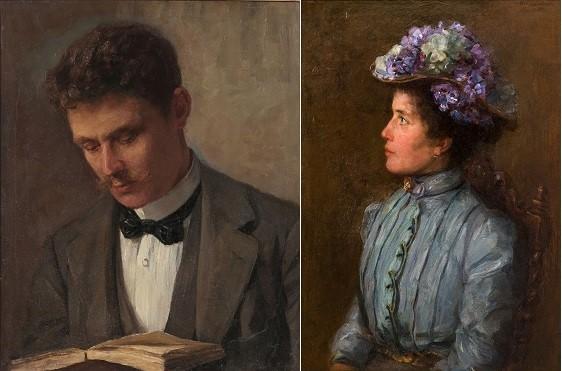 Piet Mondriaan: Cornelis Bergman en Elisabeth Sophia Maria (Betsy) Bergman