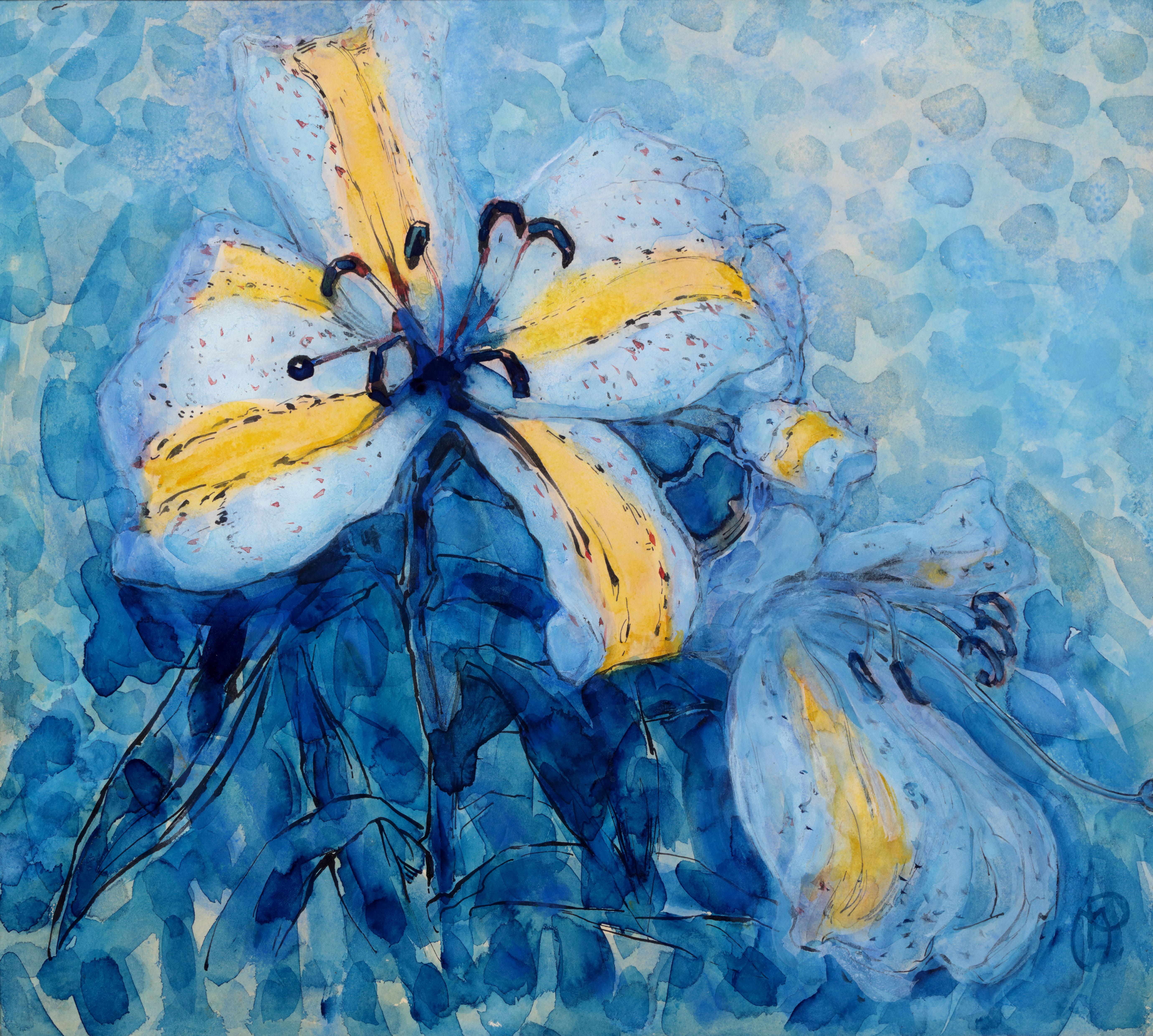 Piet Mondriaan, goudgestreepte lelie