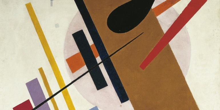 Malevich-compositie-suprematisme