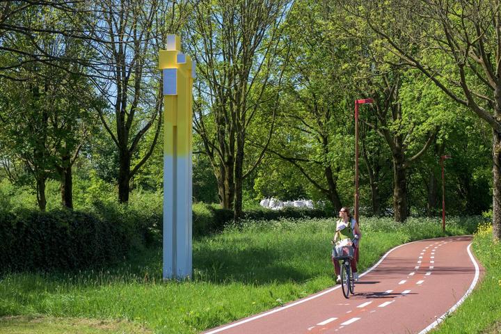 Fiets van Mondriaan naar Rietveld