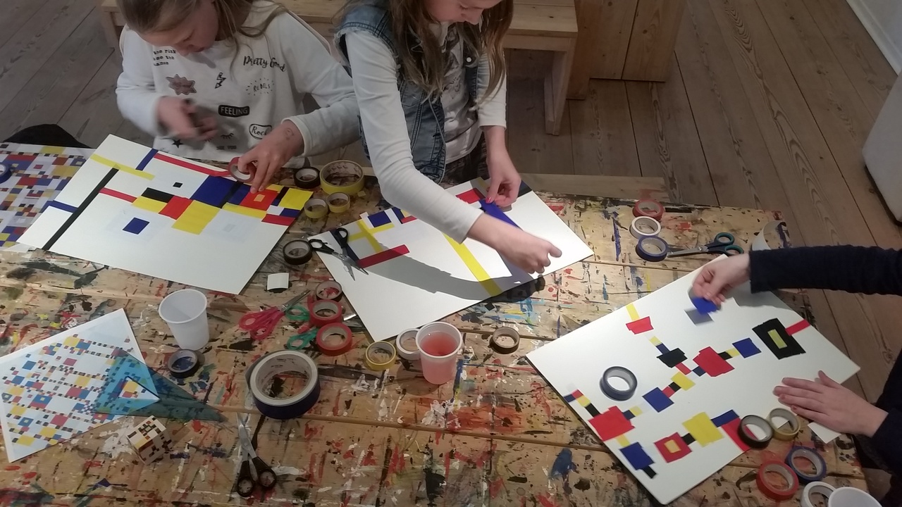 Kinderworkshop Mondriaanplacemat