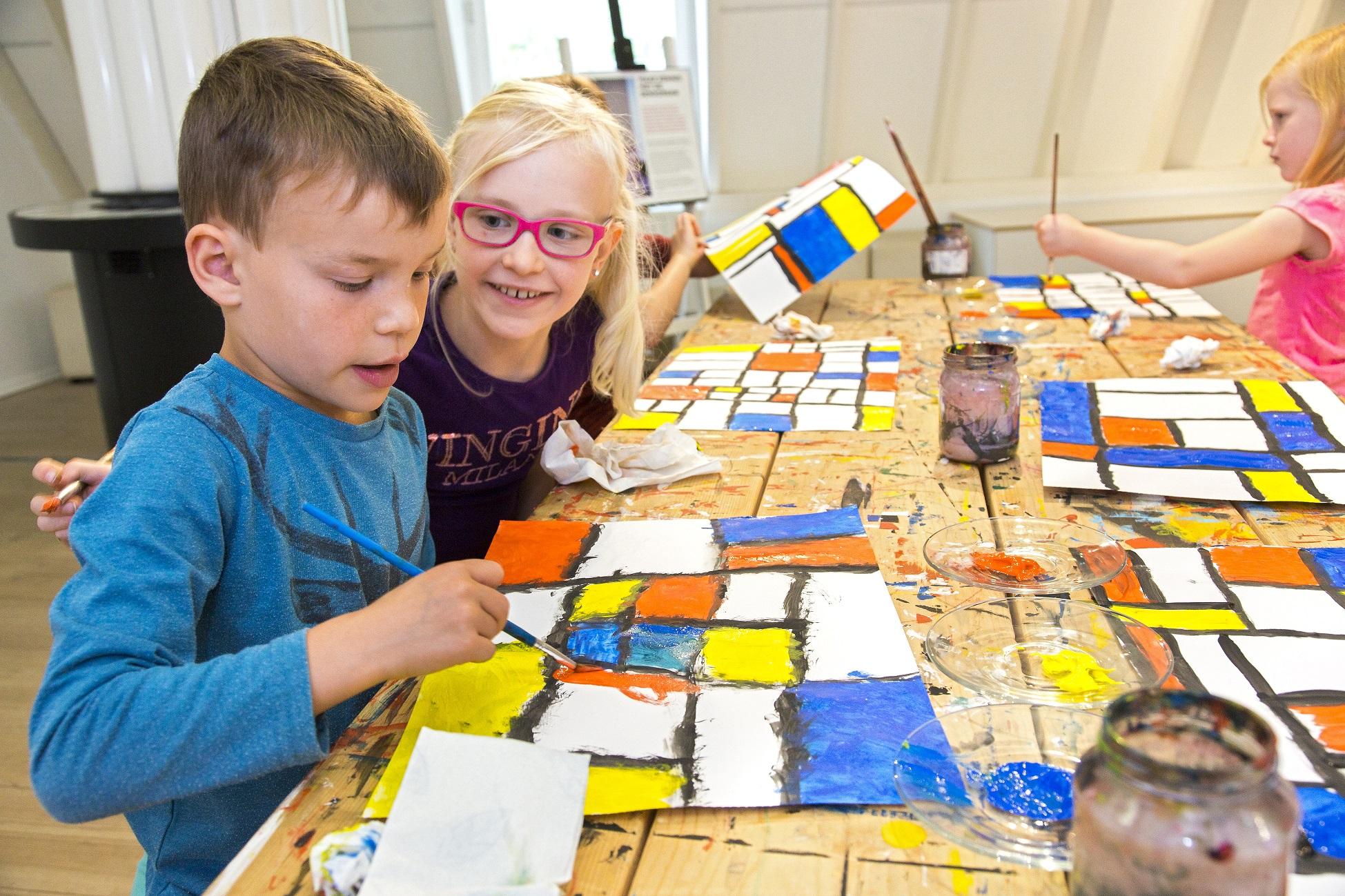 Kinderworkshop in het Mondriaanhuis