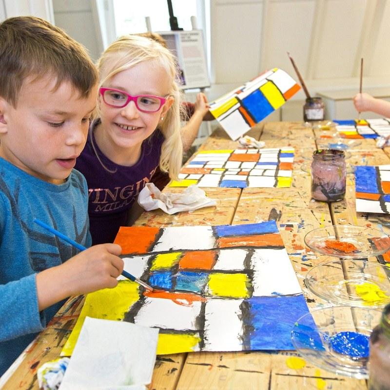 Kinderworkshop Mondriaanplacemat