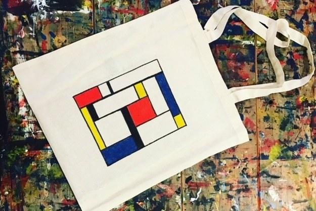 Extra workshop op 31 januari: Mondriaantas schilderen