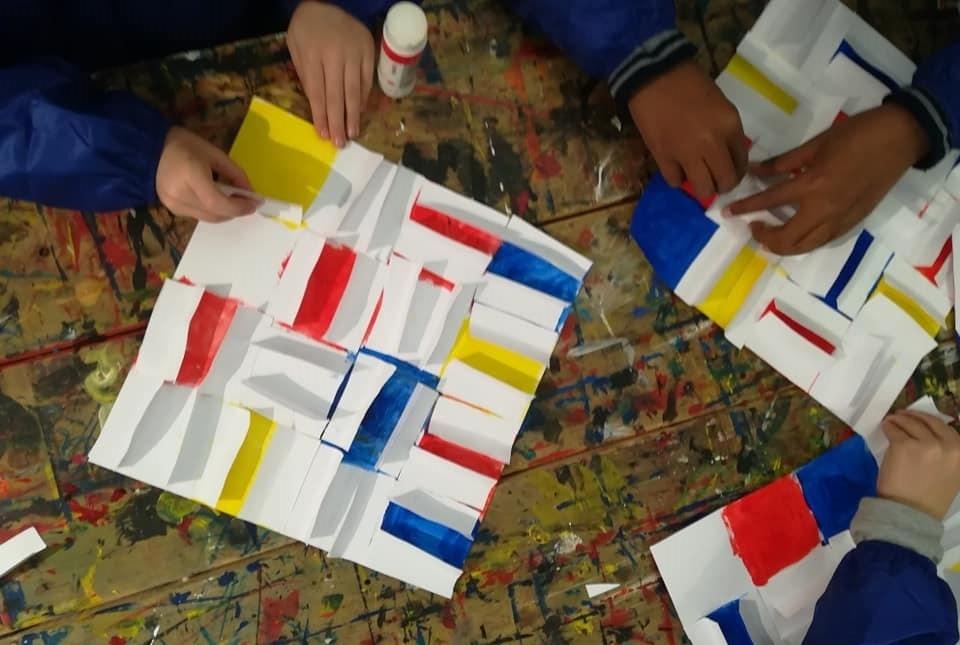 Kinderworkshop in het Mondriaanhuis Amersfoort