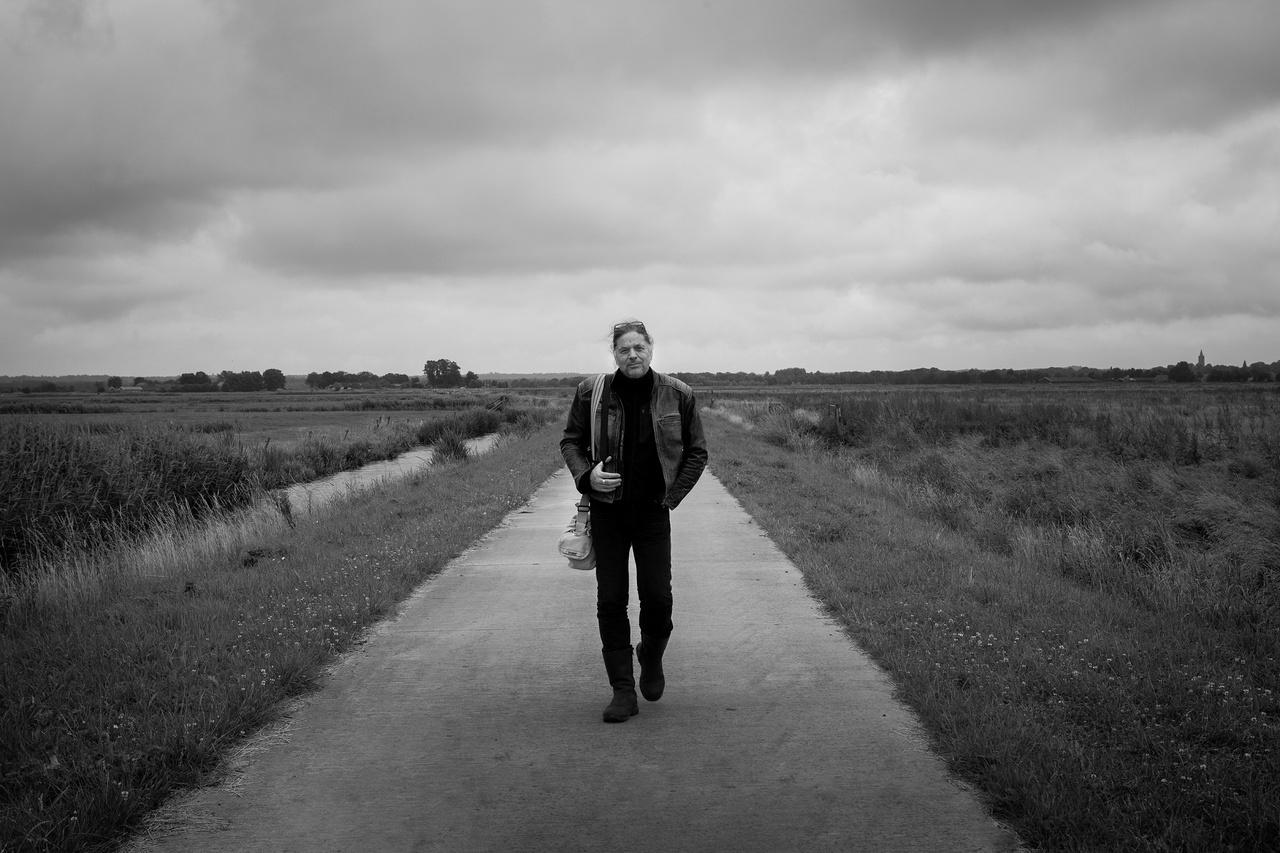 Frans Kanters in de Zeldertse polder