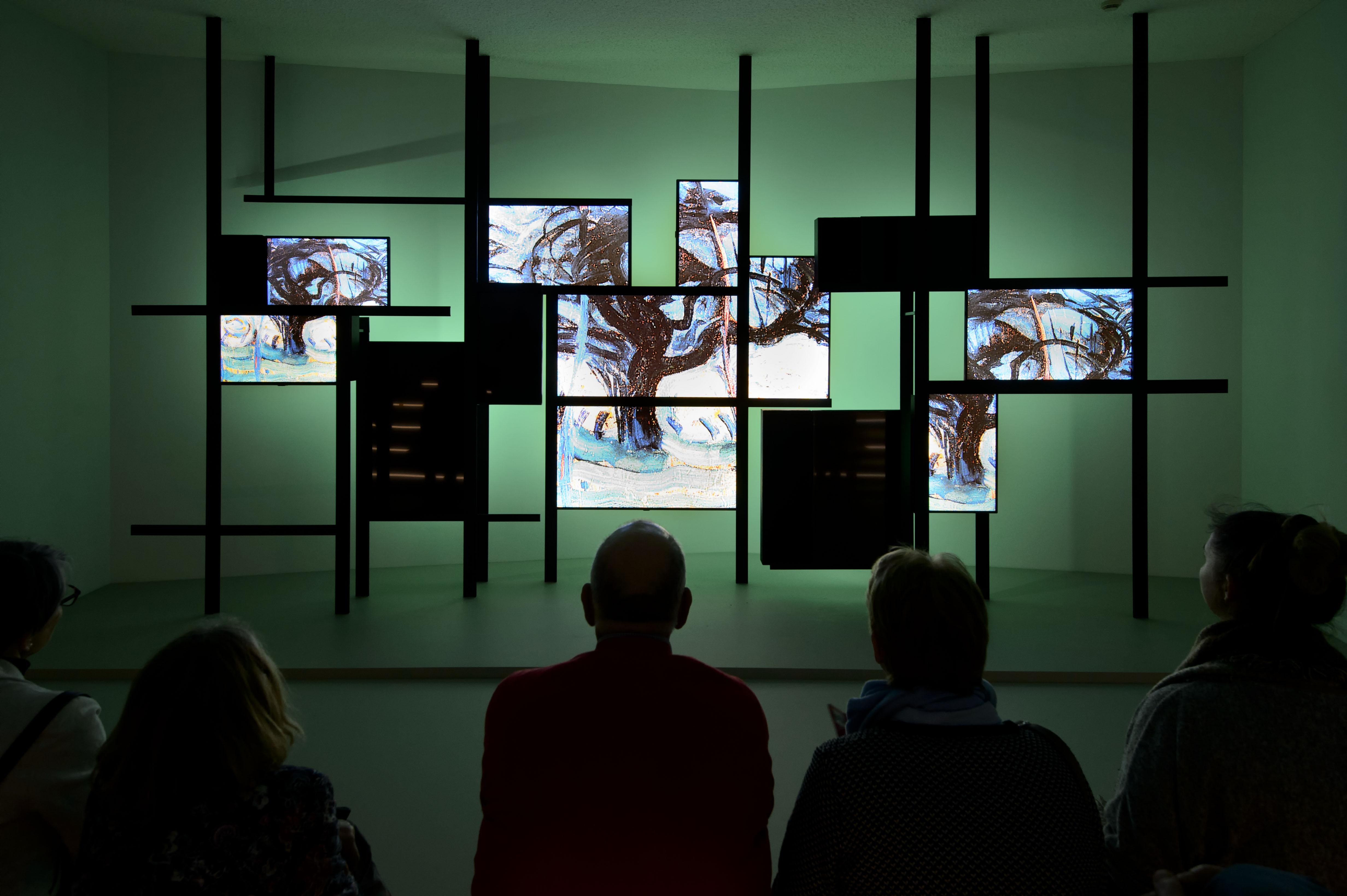 Videozaal in het Mondriaanhuis