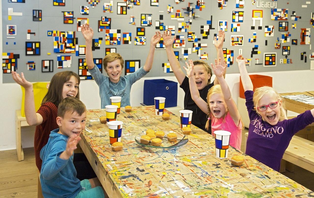 Kinderfeestje in het Mondriaanhuis