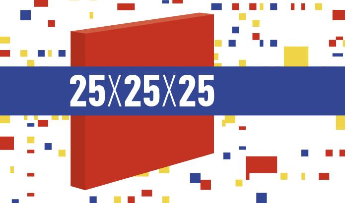 Tentoonstelling 25 x 25 x 25 in het Mondriaanhuis